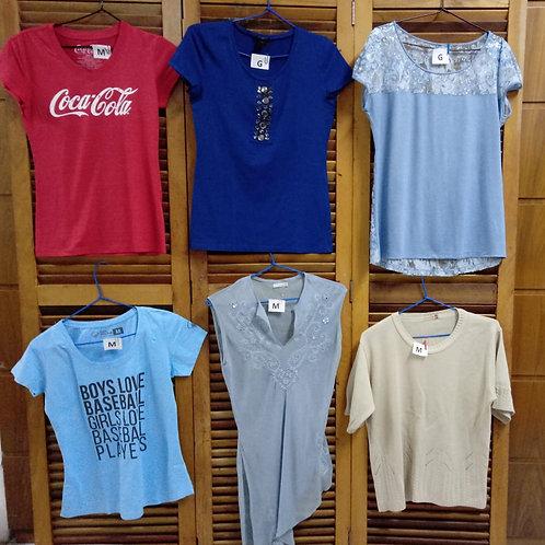 Camisetas Básicas diversas cores