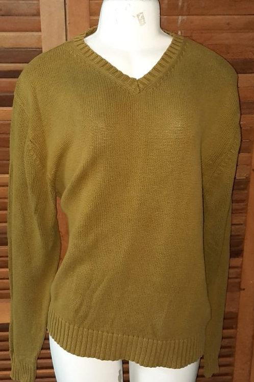 Blusa de lã gola V