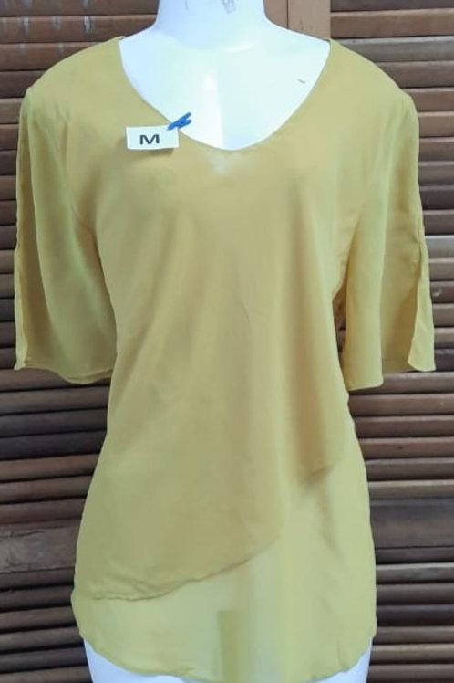 Blusa social amarela