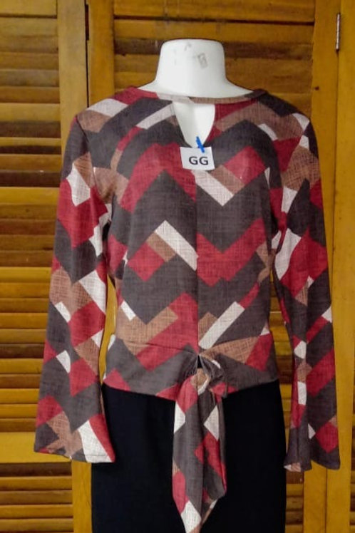 Blusa pluz size estampa geométrica