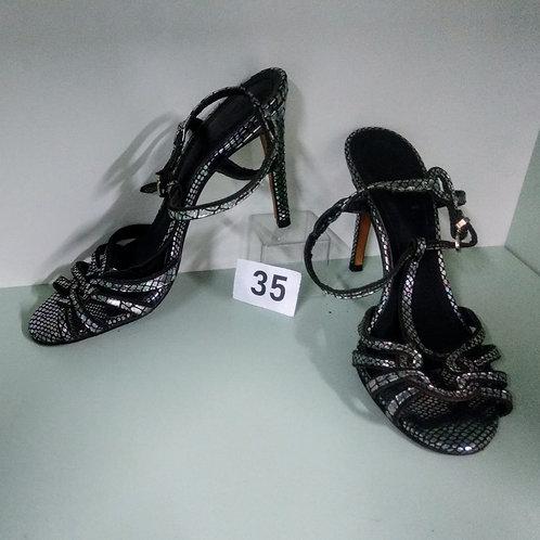 Sandália Preta com strass