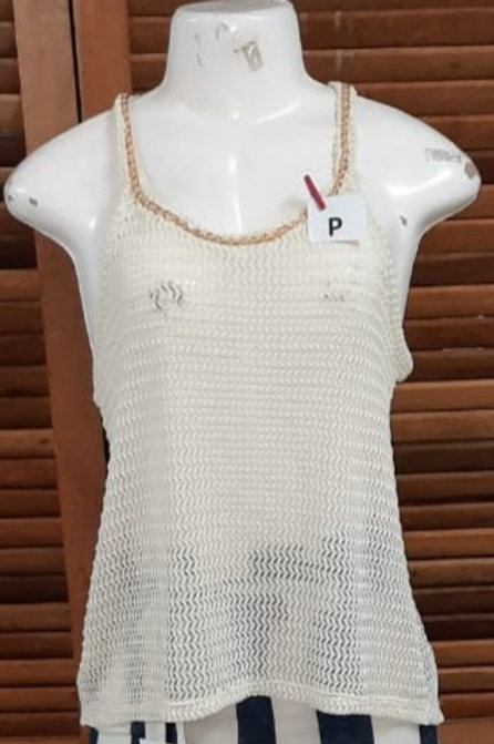 Blusa branca em  trico