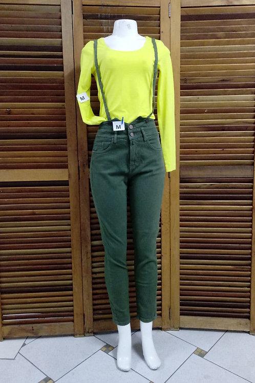Macacão jeans verde