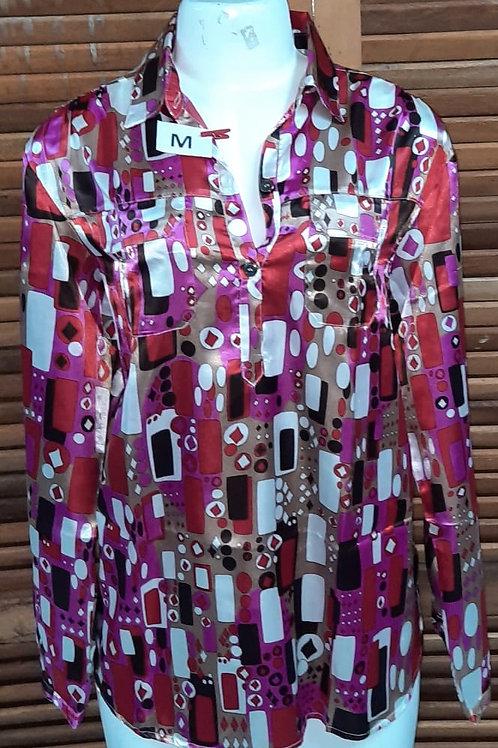 Camisa Social Estampa geométrica