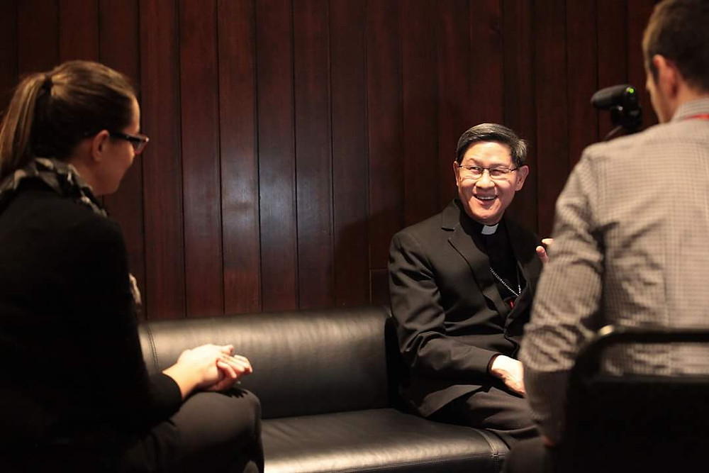 Agnieszka interviews Cardinal Luis Tagle.
