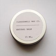 Clerkenwell Wax Co. natural organic lip balm beeswax