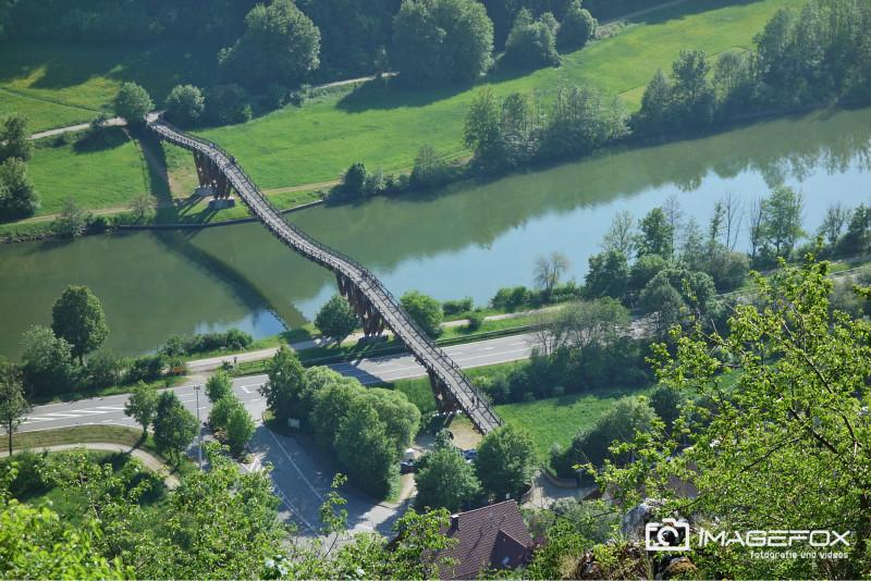 Holzhängebrücke Essing