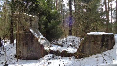 Lost Place Abensberg - Mauerreste im Wald