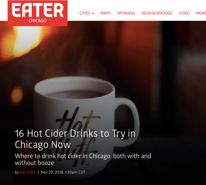 16 Hot Apple Cider's to Try in Chicago Right Now