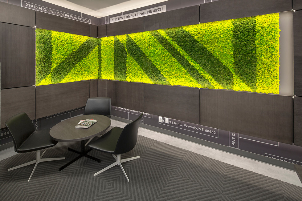 Living Wall promotes wellness and reduces VOC levels.