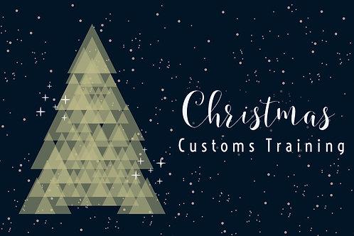 Christmas Customs Training