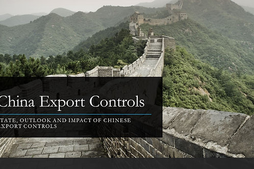 Introduction Chinese Export Controls Webinar