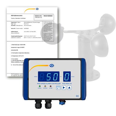 Weather Station / Wind Speed Alarm PCE-WSAC 50