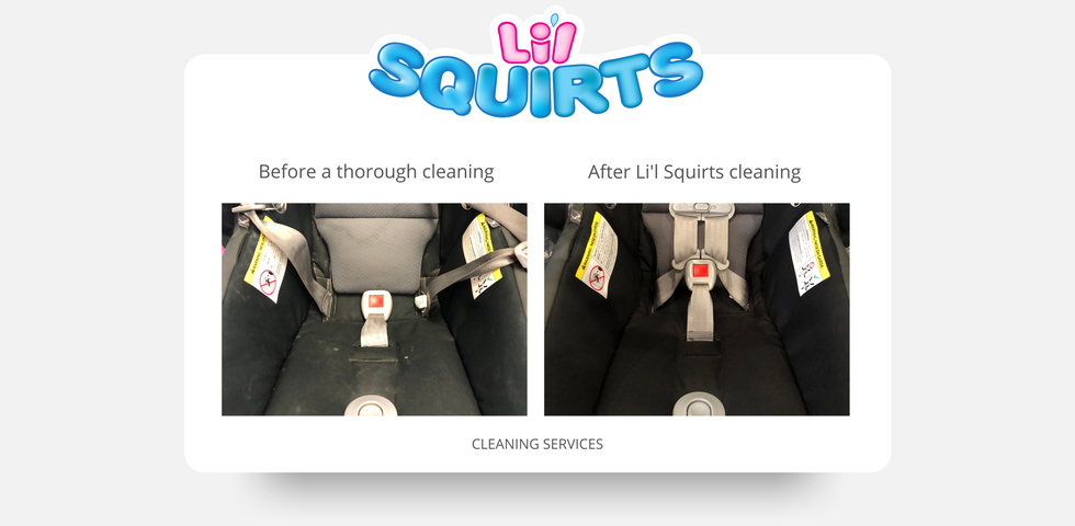 UPPAbaby Mesa Infant Seat Before and After Cleaning Results