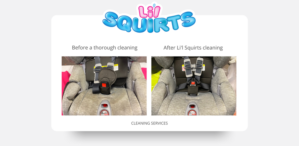 Britax ClickTight Convertible Car Seat Before and After Cleaning Results