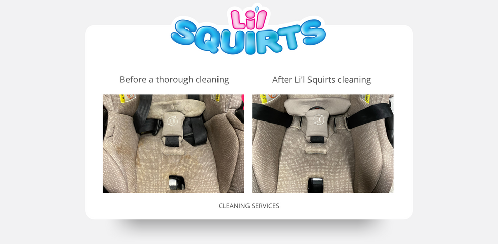 Evenflo Infant Seat Before and After Cleaning Results