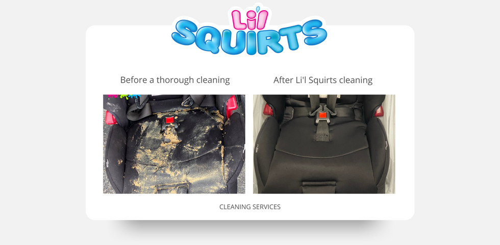 Diono RXT Car Seat Before and After Cleaning Results