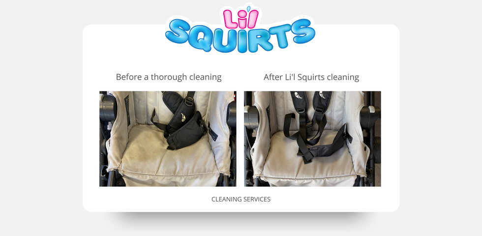 Baby Jogger City Select Stroller Before and After Cleaning Photo