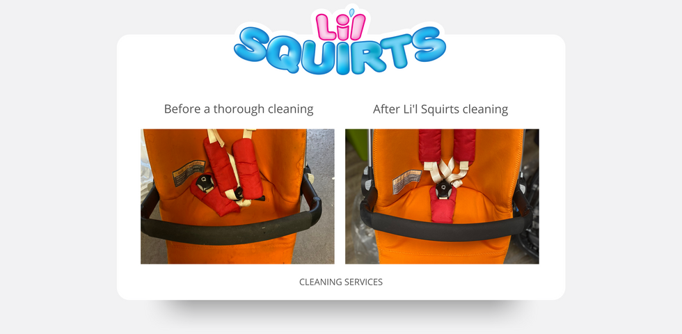 Quinny Buzz Stroller Before and After Cleaning Results