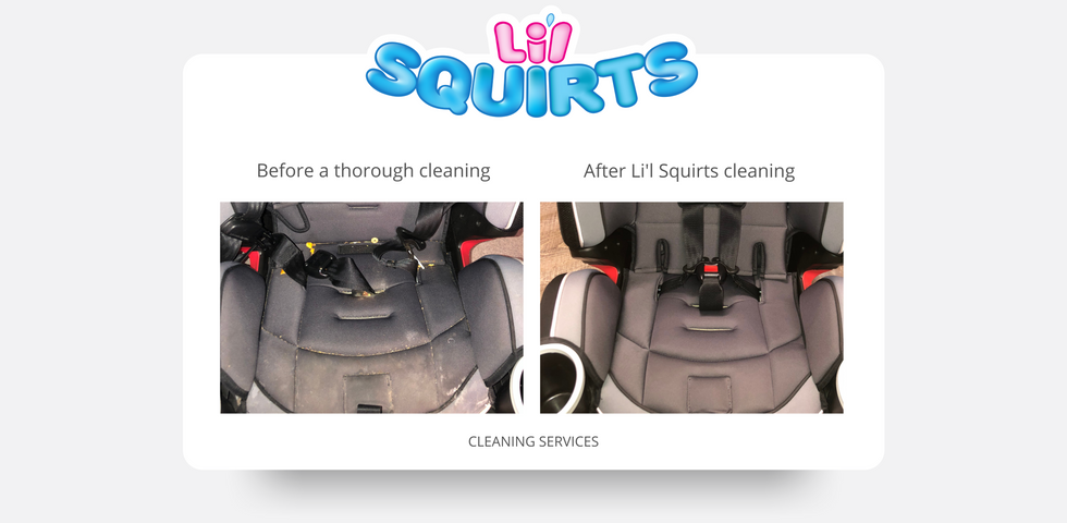 Graco 4 Ever Car Seat Before and After Cleaning Results