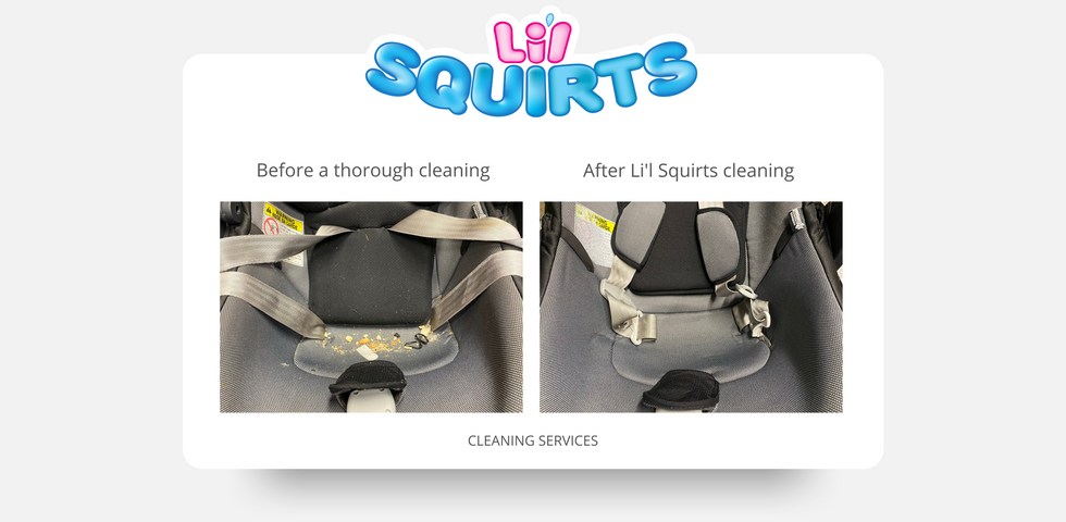 Peg Perego 4-35 Infant Seat Before and After Cleaning Results