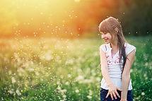 Chica en los campos