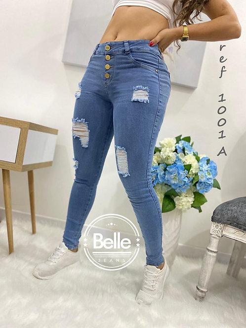 Jean Belle azul claro con rotos ref. 1001A