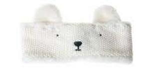 Polar bear knitted head band