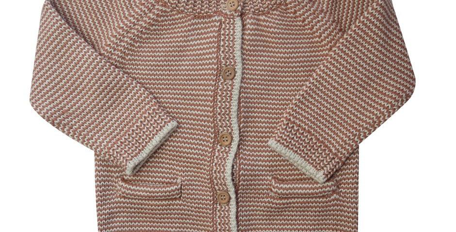 Gilet rayé brun