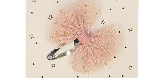 Barrette mini tutu rose