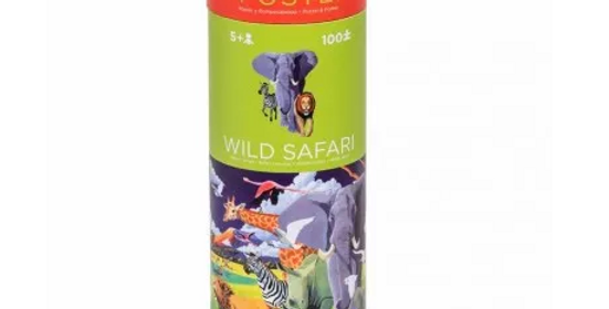 100 pc puzzle and poster - Wild safari