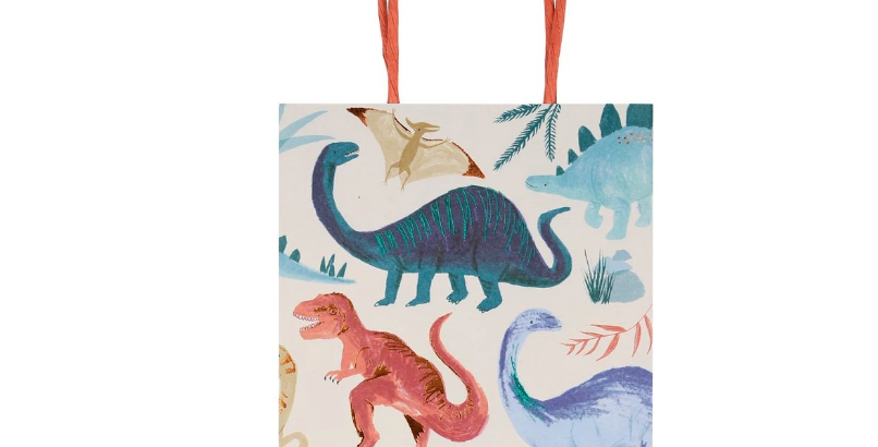 8 Party bags  - Royaume des dinosaures
