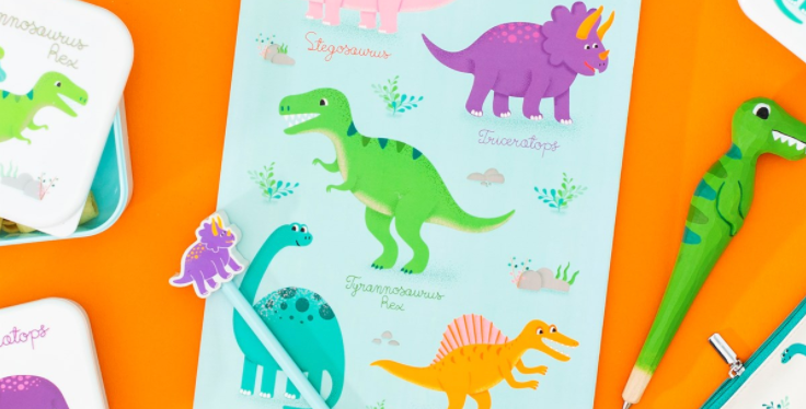 Bloc A4 Dinosaures