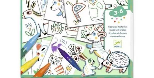 Créer avec des formes - Un monde à créer, animaux