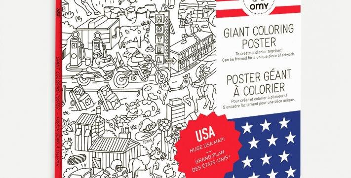 Poster à colorier - USA