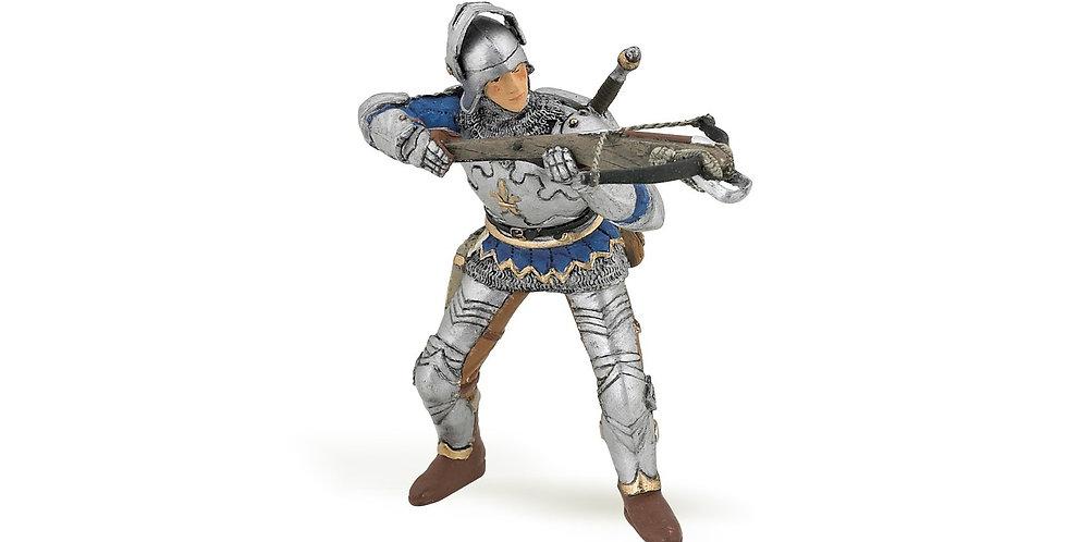 Arbaletrier bleu en armure