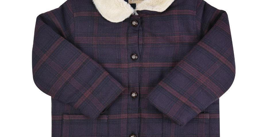 Manteau retro pilou bordeaux - 12 mois