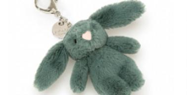 Bashful bunny bag charm