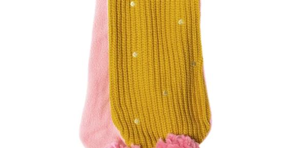Gold spotty scarf