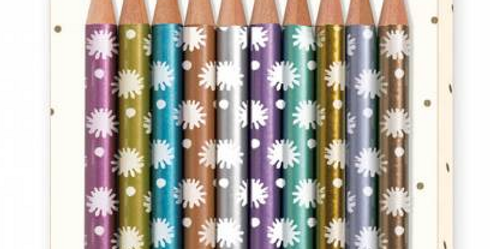 Lovely Paper - 10 crayons Metalliques