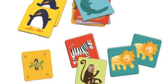 Jeux éducatifs - Memo animaux couleurs