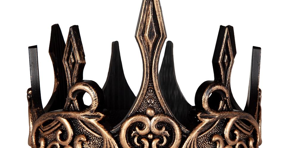 Couronne de roi luxe latex  or/noir