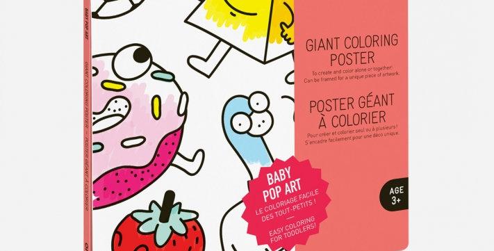 Poster à colorier - Pop