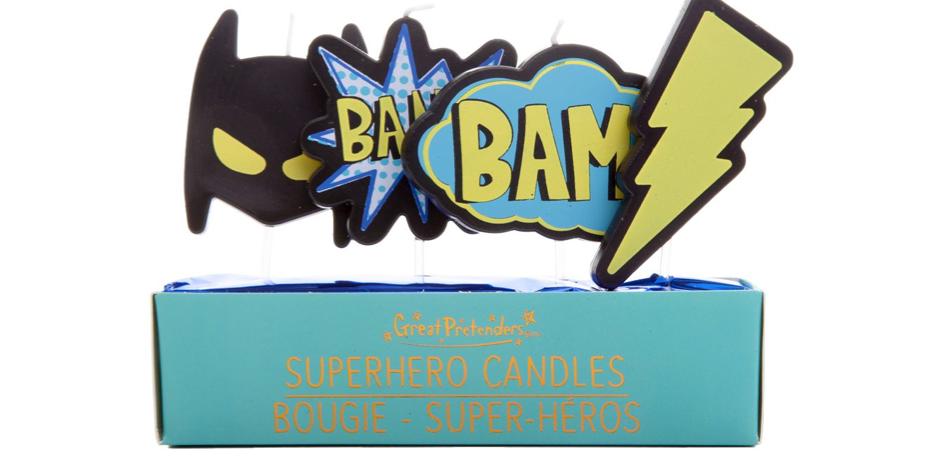Bougies Super héros