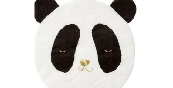 16 petites serviettes- Panda