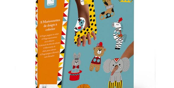 Marionnettes de doigts à colorier