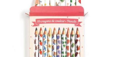 Lovely Paper - 10 crayons de couleurs