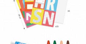 Créer avec des formes - Un monde à créer, lettres