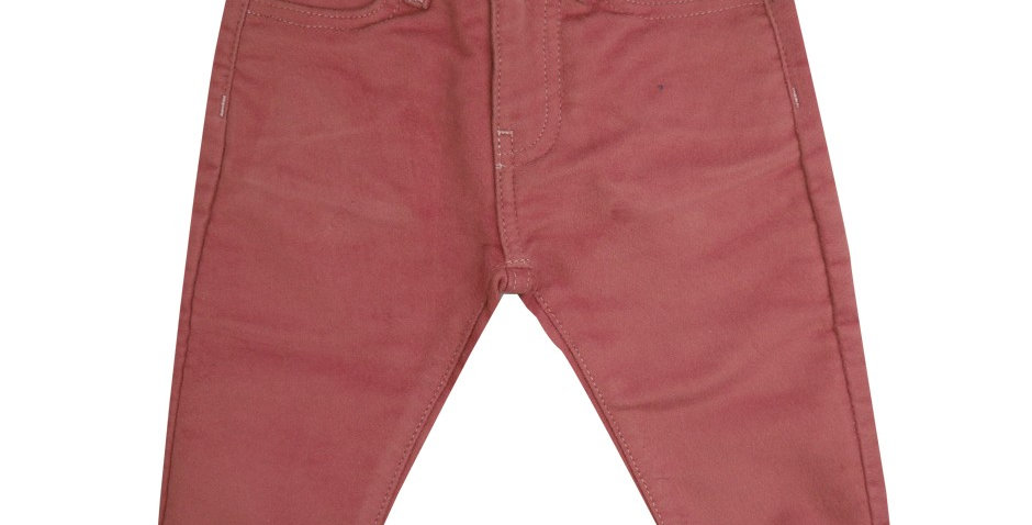 Pantalon moleskine rose