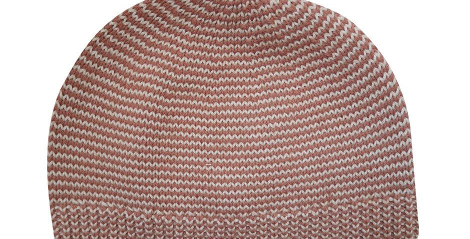 Bonnet rayé brun